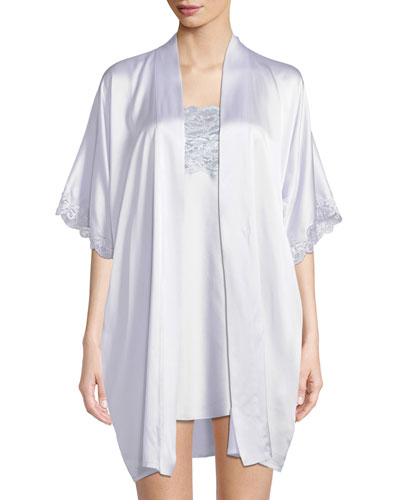 Bijoux Short Silk Robe  and Matching Items