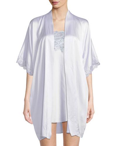 Bijoux Short Silk Robe  and Matching Items
