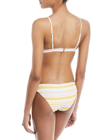 Taylor Painted-Stripe Printed Swim Top