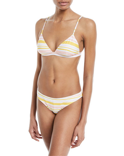 Taylor Painted-Stripe Printed Swim Top and Matching Items