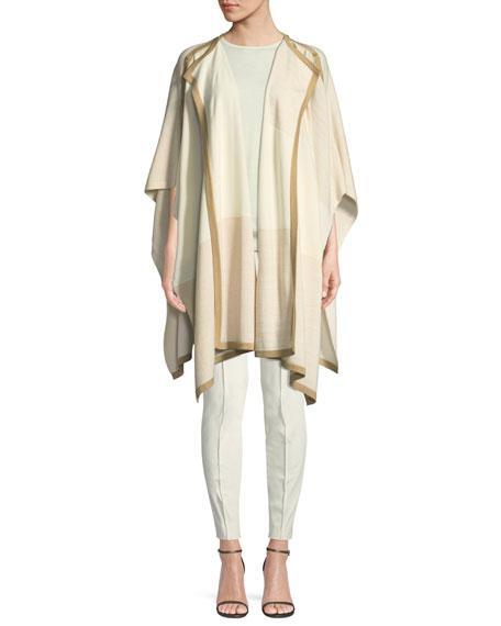 Jersey Knit Short-Sleeve Wool Sweater