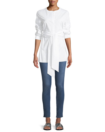 Stretch Denim Slim Ankle Jeans  and Matching Items