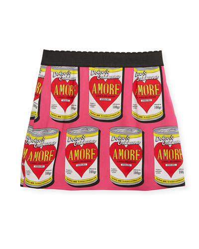 Amore Soup Silk-Stretch Skirt, Size 2-6  and Matching Items
