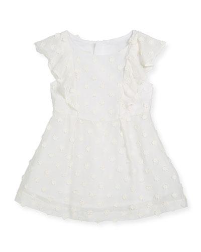 Daisy-Embroidery Ruffle Dress, Size 4-7  and Matching Items