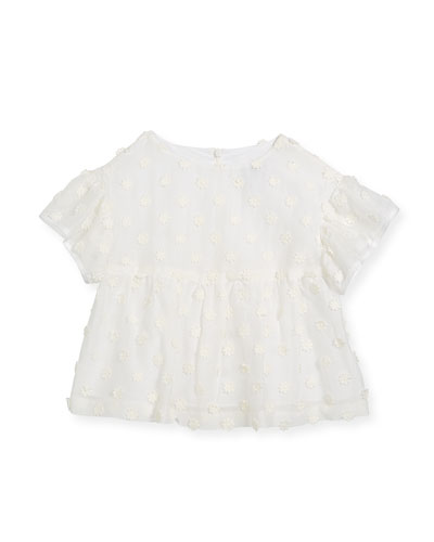 Lindy Daisy-Embroidery Blouse, Size 4-7  and Matching Items