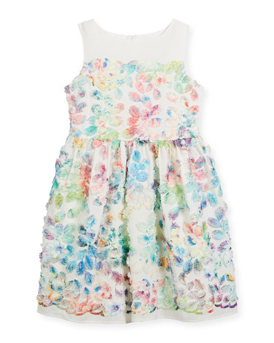 Watercolor Floral Sleeveless Dress, Size 2-4  and Matching Items