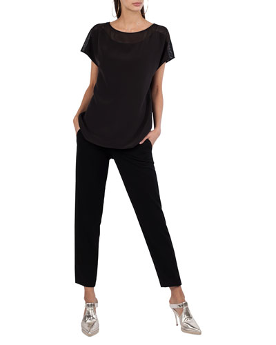 Fayola Straight-Leg Ankle Pants and Matching Items