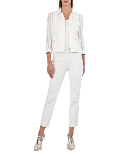 Franca Side-Zip Ankle Pants and Matching Items