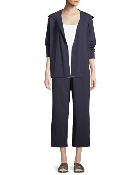 Organic Cotton Jersey Hooded Cardigan