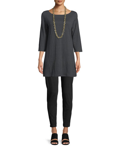 3/4-Sleeve Organic Linen Jersey Tunic, Petite and Matching Items
