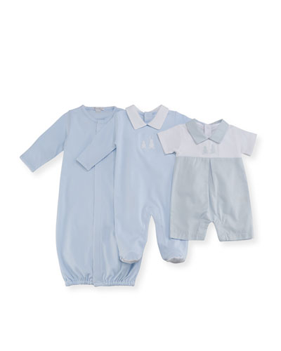 Pique Bunny Ears Convertible Pima Sleep Gown, Blue, Size Newborn-Small and Matching Items