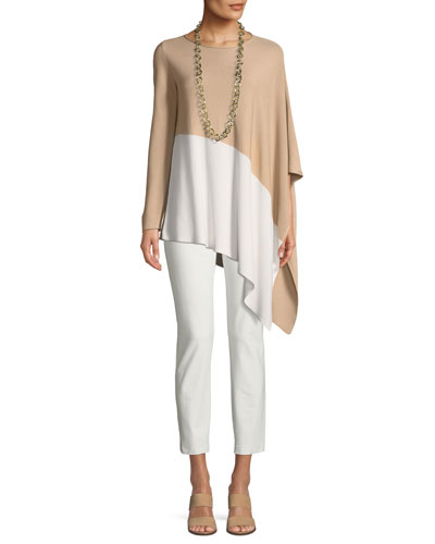 Bateau-Neck Asymmetric-Hem Knit Top and Matching Items