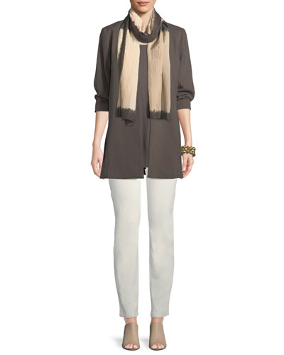 3/4-Sleeve Draped Long Jacket, Petite and Matching Items