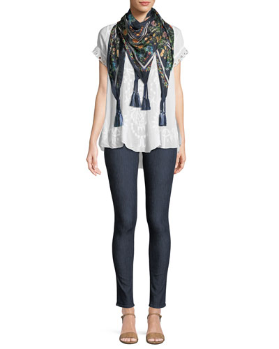 Kyuss V-Neck Embroidered Blouse  and Matching Items