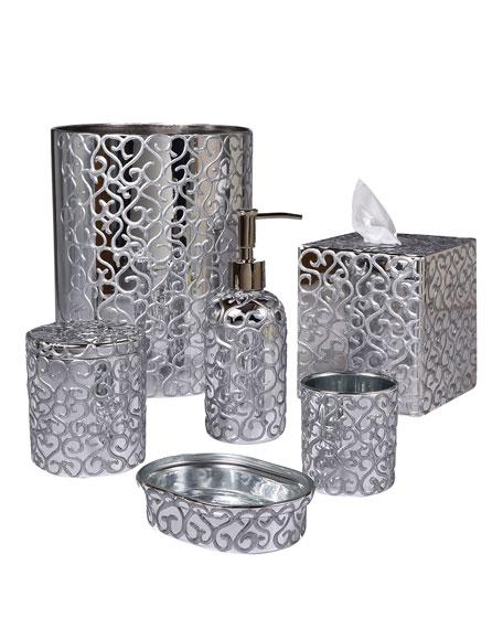 Jamila Glass Soap Dish, Silver
