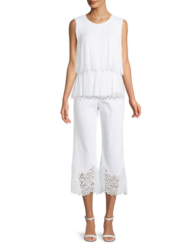 Rumi Pleated Lace Sleeveless Blouse and Matching Items