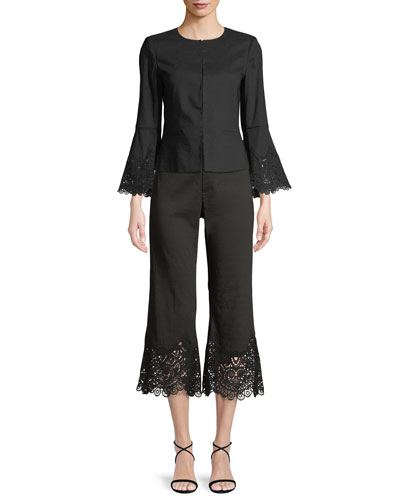 Neve Lace-Back Long-Sleeve Jacket and Matching Items