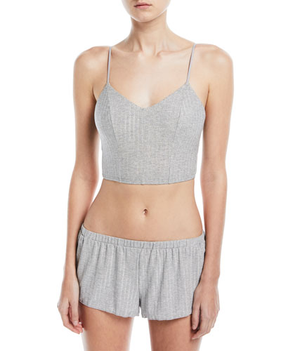 Minimalista Rib-Knit Tap Shorts and Matching Items