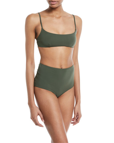 Marina Scoop-Neck Solid Swim Top and Matching Items