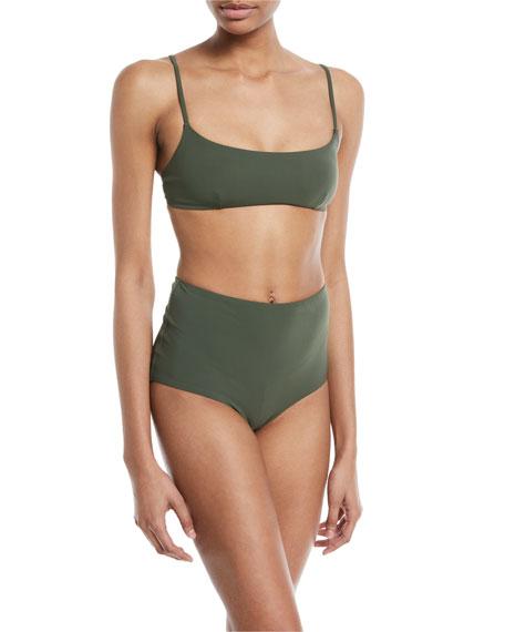 Marina Scoop-Neck Solid Swim Top