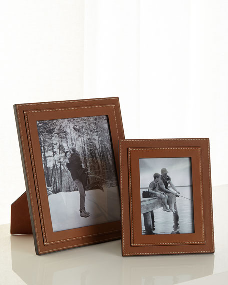 "Brennan Picture Frame, Saddle, 8"" x 10"""