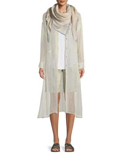 Organic Linen-Blend Button-Front Duster and Matching Items