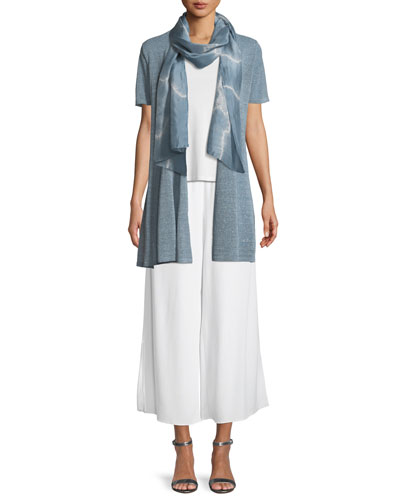 Organic Linen-Crepe Shimmer Long Cardigan and Matching Items