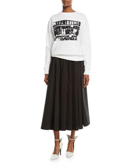 Andy Warhol Cowboy Boots Crewneck Cotton Sweatshirt