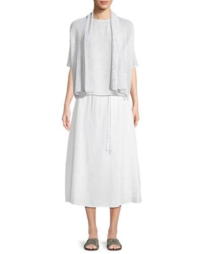 Organic Linen Loose-Knit Short Cardigan and Matching Items