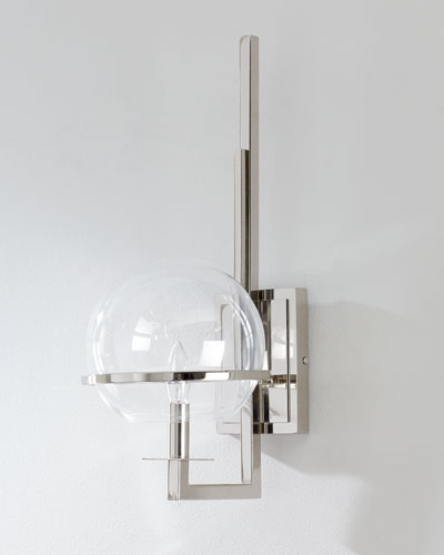 Saturn Polished Nickel Sconce  and Matching Items