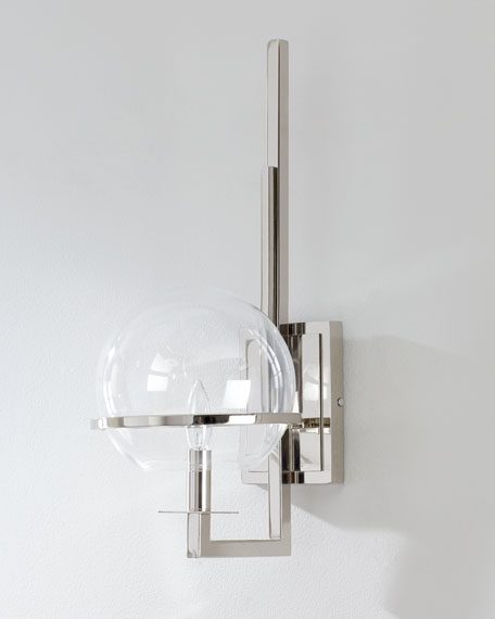 Saturn Polished Nickel Sconce