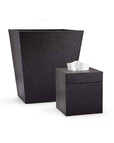 Conda Wastebasket, Black