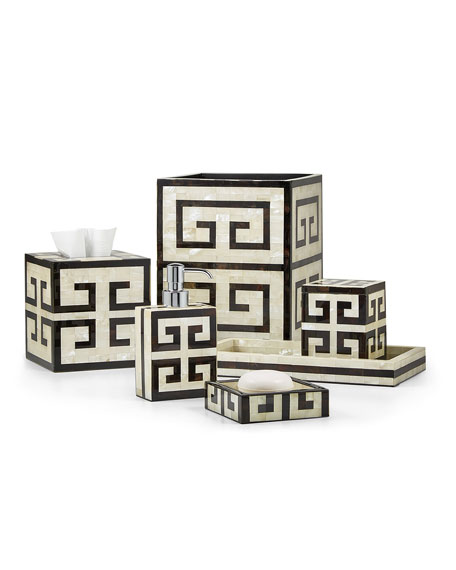 Greek Key Tissue Box Cover