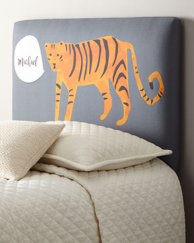 Tiger Twin Headboard, Personalized  and Matching Items
