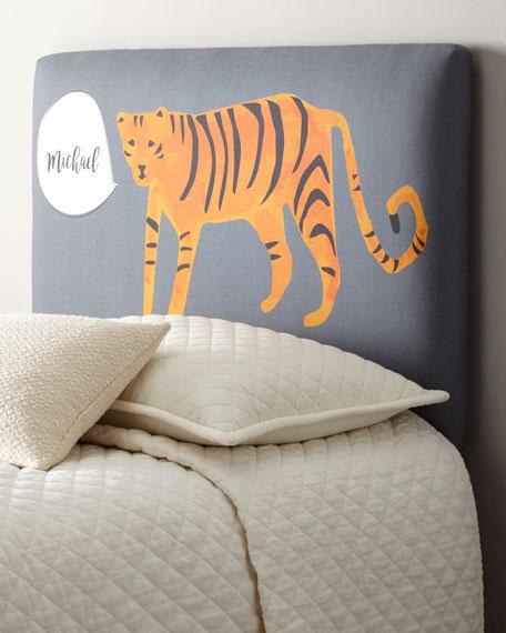Tiger Twin Headboard, Personalized