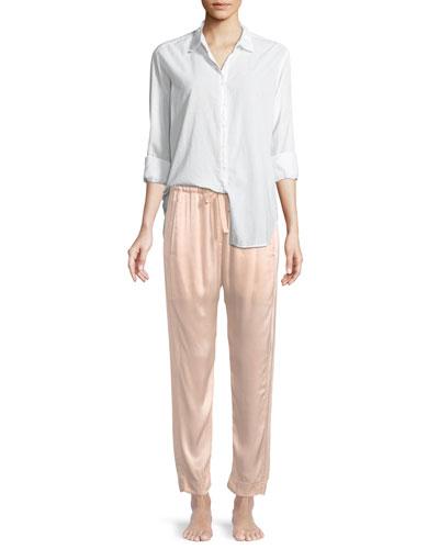 Beau Poplin Lounge Shirt and Matching Items