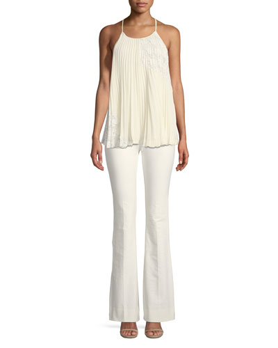 Pleated Camisole Blouse with Lace  and Matching Items