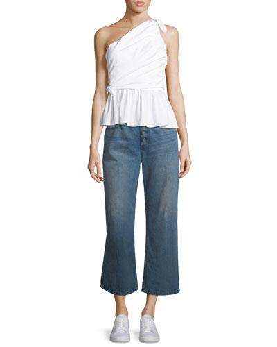 Soraya One-Shoulder Draped Cotton Top and Matching Items