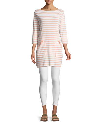 Striped Cotton Interlock 2-Pocket Tunic and Matching Items