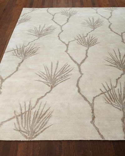 Palm Hand-Knotted Rug, 9' x 12' and Matching Items
