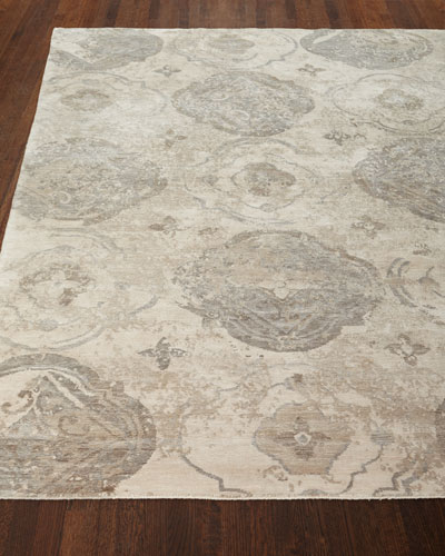 Cityscape Hand-Knotted Rug, 6' x 9' and Matching Items