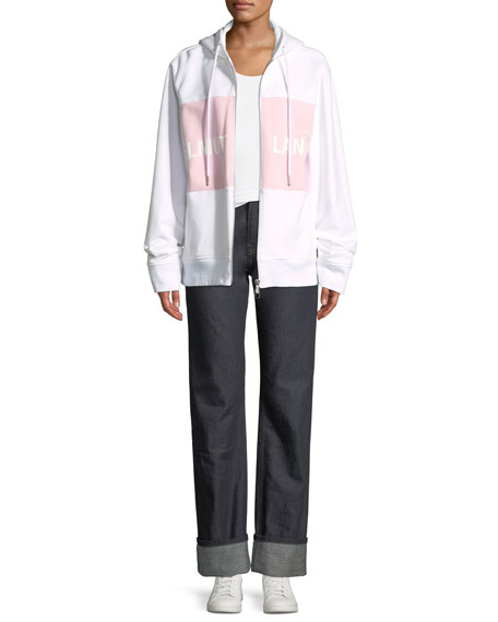 Shayne Oliver Campaign-Print Terry Zip-Up Jacket