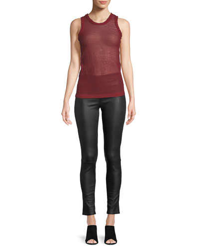 Sheer Jacquard Knit Shell Top and Matching Items