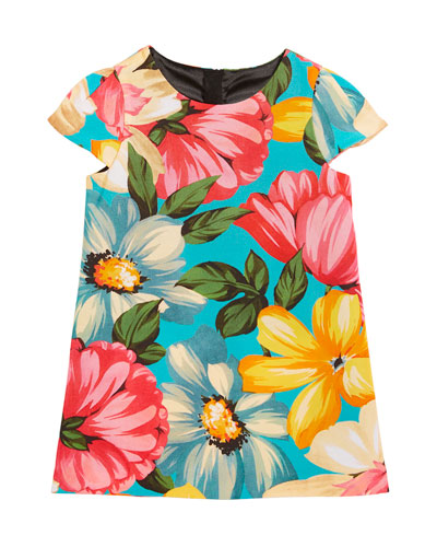 Chloe Floral-Print Dress, Size 4-7  and Matching Items