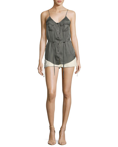Getaway Snap-Front Satin Camisole and Matching Items