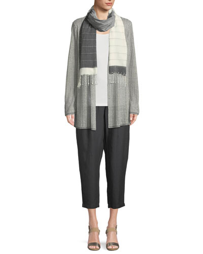 Organic Linen-Blend Striped Cardigan and Matching Items