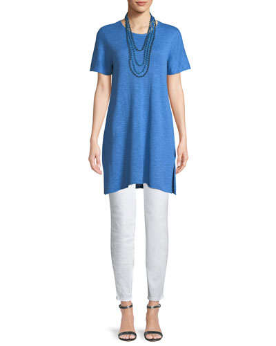 Heathered Linen-Blend Long Tunic and Matching Items