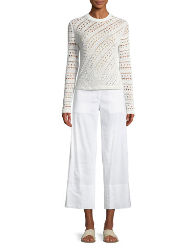 Fluid Cropped Wide-Leg Pants and Matching Items