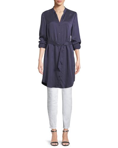 Silk Charmeuse Long Shirt and Matching Items
