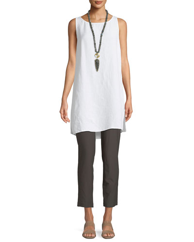 Linen/Tencel Crepe Tunic Tank  and Matching Items